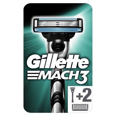 Gillette Mach3 scheersysteem + 2 navulmesjes