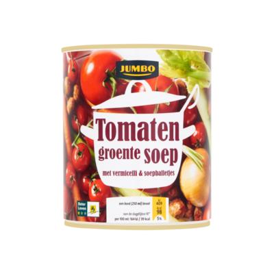 Huismerk Tomaten Groentesoep met Vermicelli & Soepballetjes