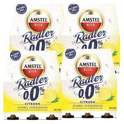 Amstel Radler citroen 0.0% fles 24 x 30 cl.