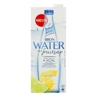 DubbelFrisss Bronwater met citroen & limoen