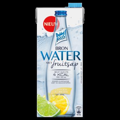 Dubbelfrisss Bronwater citroen limoen