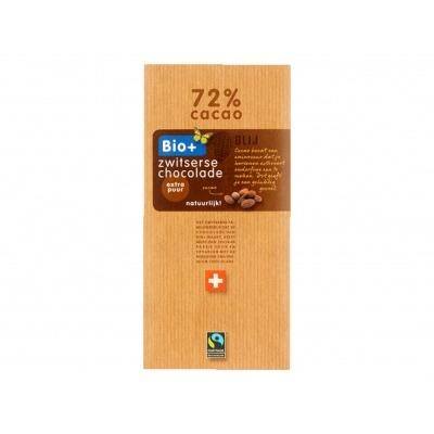 Bio+ Chocoladereep Zwitsers puur