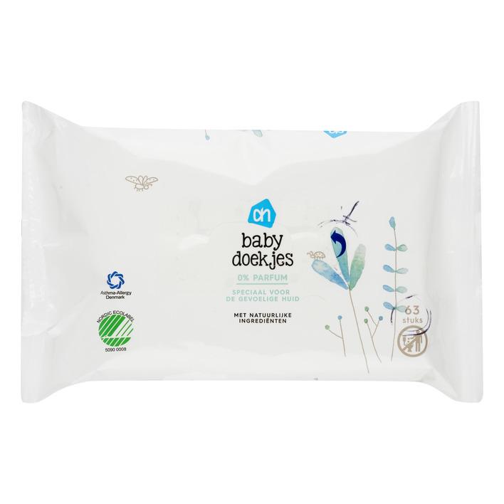 Huismerk Babydoekjes puur 0% parfum