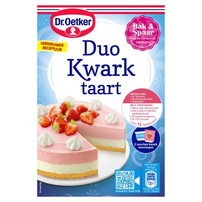 Dr. Oetker Kwarktaart duo aardbei vanille