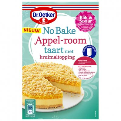 Dr. Oetker No bake appel-room taart