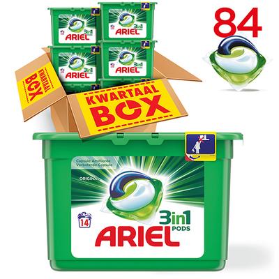 Ariel 3in1 pods regular capsules kwartaalbox 84 wasbeurten