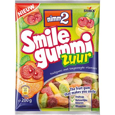 Smilegummi Zuur