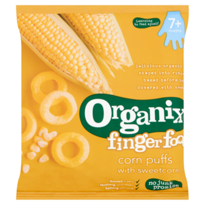 Organix Goodies 7+ Fingerfoods Puffs Sweetcorn Bio