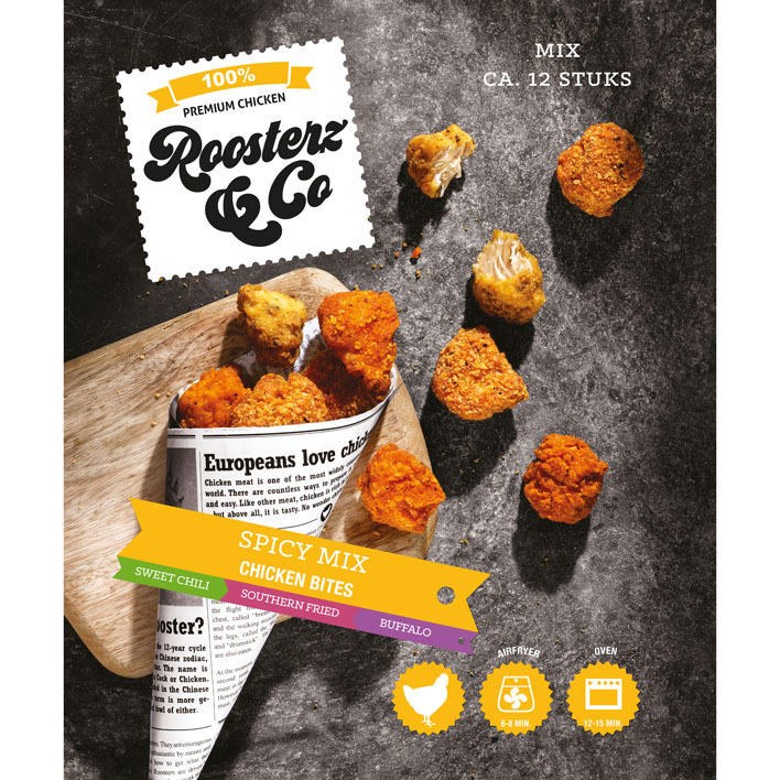 Roosterz & Co Bites spicy mix