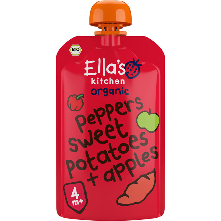 Ella's Kitchen 4+ Red peppers, sweet patatoes apples