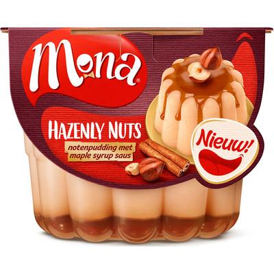 Mona Notenpudding met maple syrup saus