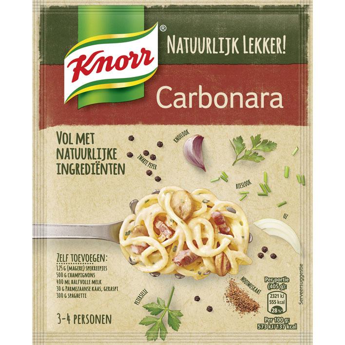Knorr Natuurlijk spaghetti carbonara