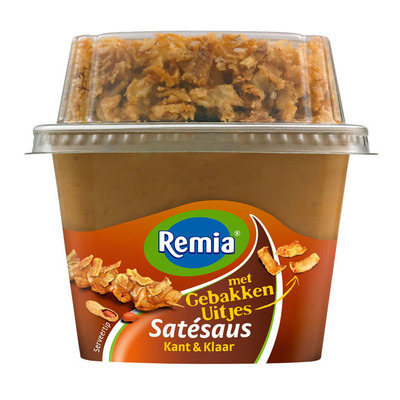Remia Satesaus met gebakken uitjes