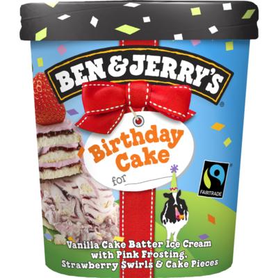 Ben & Jerry's Birthday cake