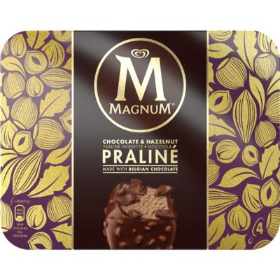 Ola Magnum hazelnoot praline 4 stuk
