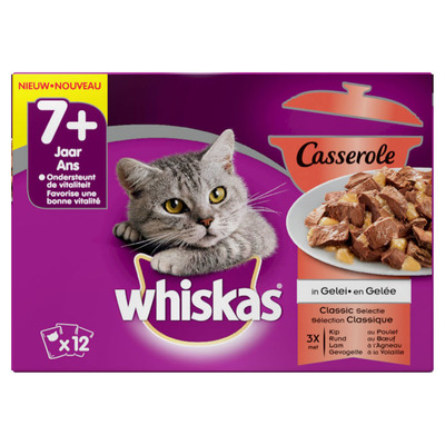 Whiskas Casserole senior classic selectie