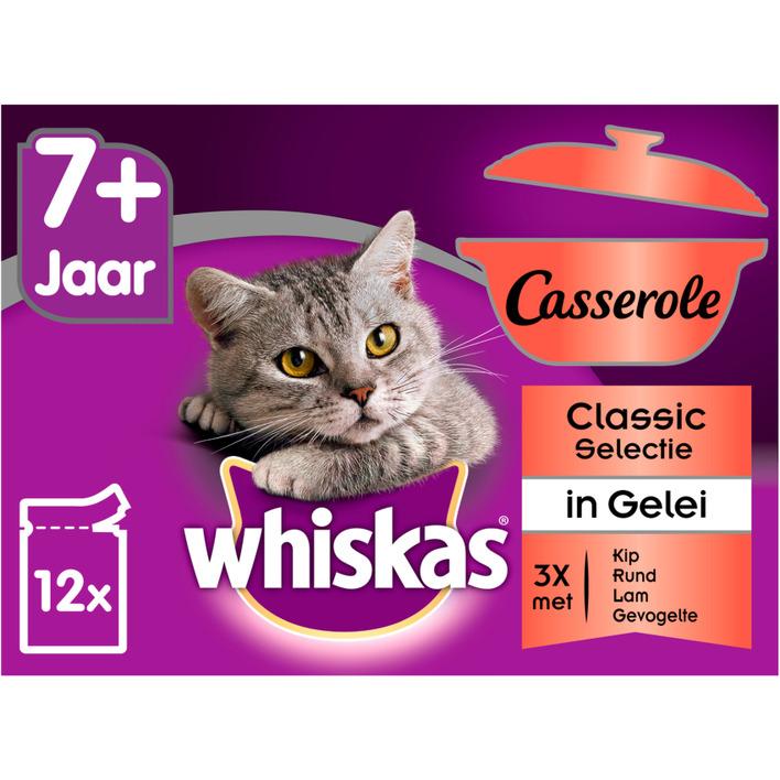 Whiskas Kattenvoer nat selectie in gelei senior