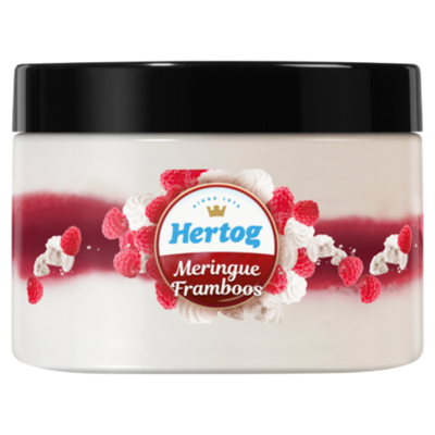 Hertog IJs Single meringue framboos