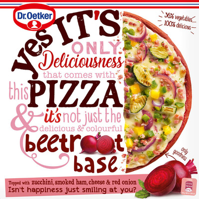 Dr. Oetker Yes it´s pizza beetroot crust