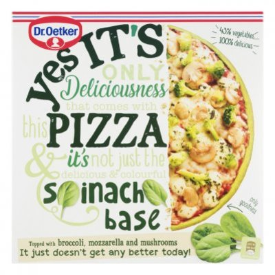 Dr. Oetker Yes it´s pizza spinach crust