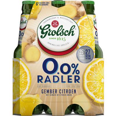 Grolsch Radler 0% gember-citroen
