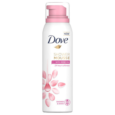 Dove Rose shower mousse rose oil