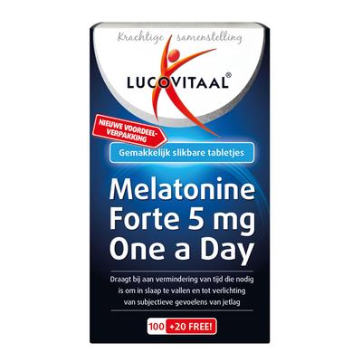 Lucovitaal Melatonine forte 5mg one a day tabletten