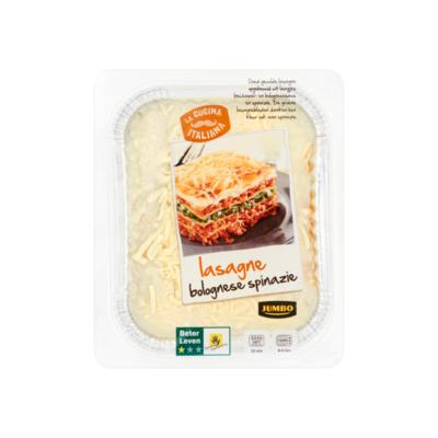 Huismerk Lasagne Bolognese Spinazie