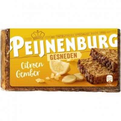Peijnenburg Ontbijtkoek citroen gember gesneden