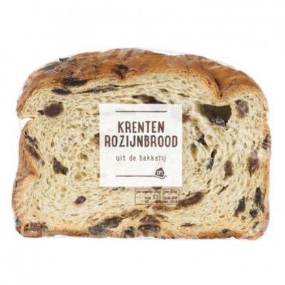 Huismerk Krenten- en rozijnenbrood half