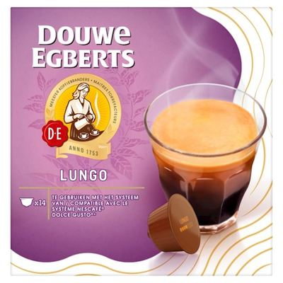Douwe Egberts Lungo koffiecups 14 stuks