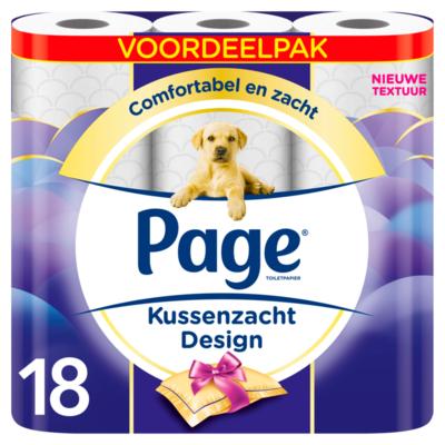 Page Toiletpapier Kussenzacht Design Voordeelpak 18 Luxe Rollen