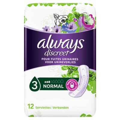 Always Discreet Verband Voor Urineverlies Normal 12