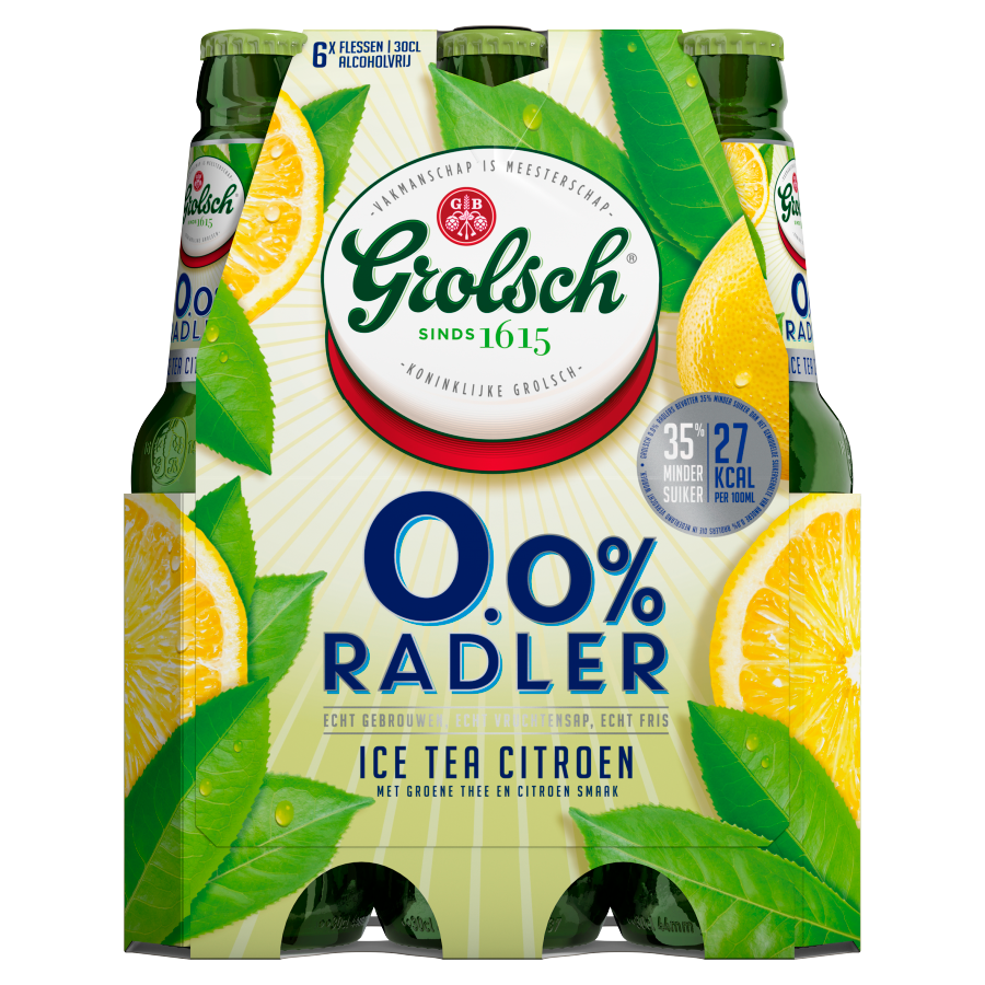 Grolsch 0,0% Radler ice tea 6x30cl