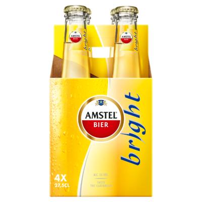 Amstel Bright Bier Fles 4 x 27,5 cl