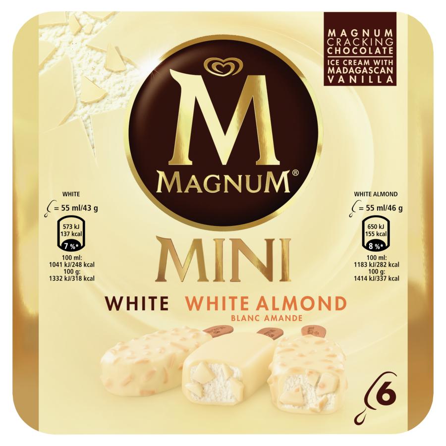 Magnum Mini white white almond 6 stuks