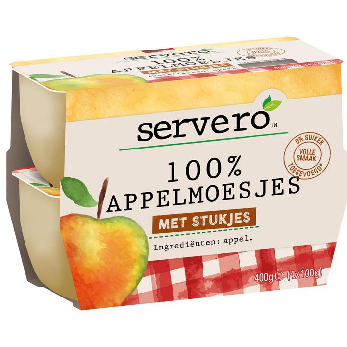 Servero 100% appelmoesjes met stukjes