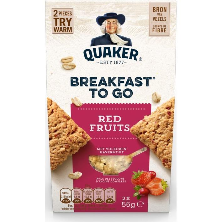 Quaker Havermout koek rood fruit