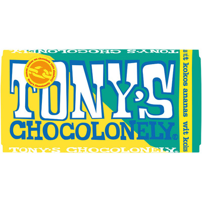 Tony's Chocolonely Wit kokos-ananas