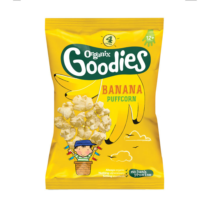 Organix Popcorn banaan  1+jr