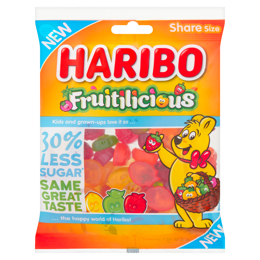 Haribo Fruitlicious minder suiker