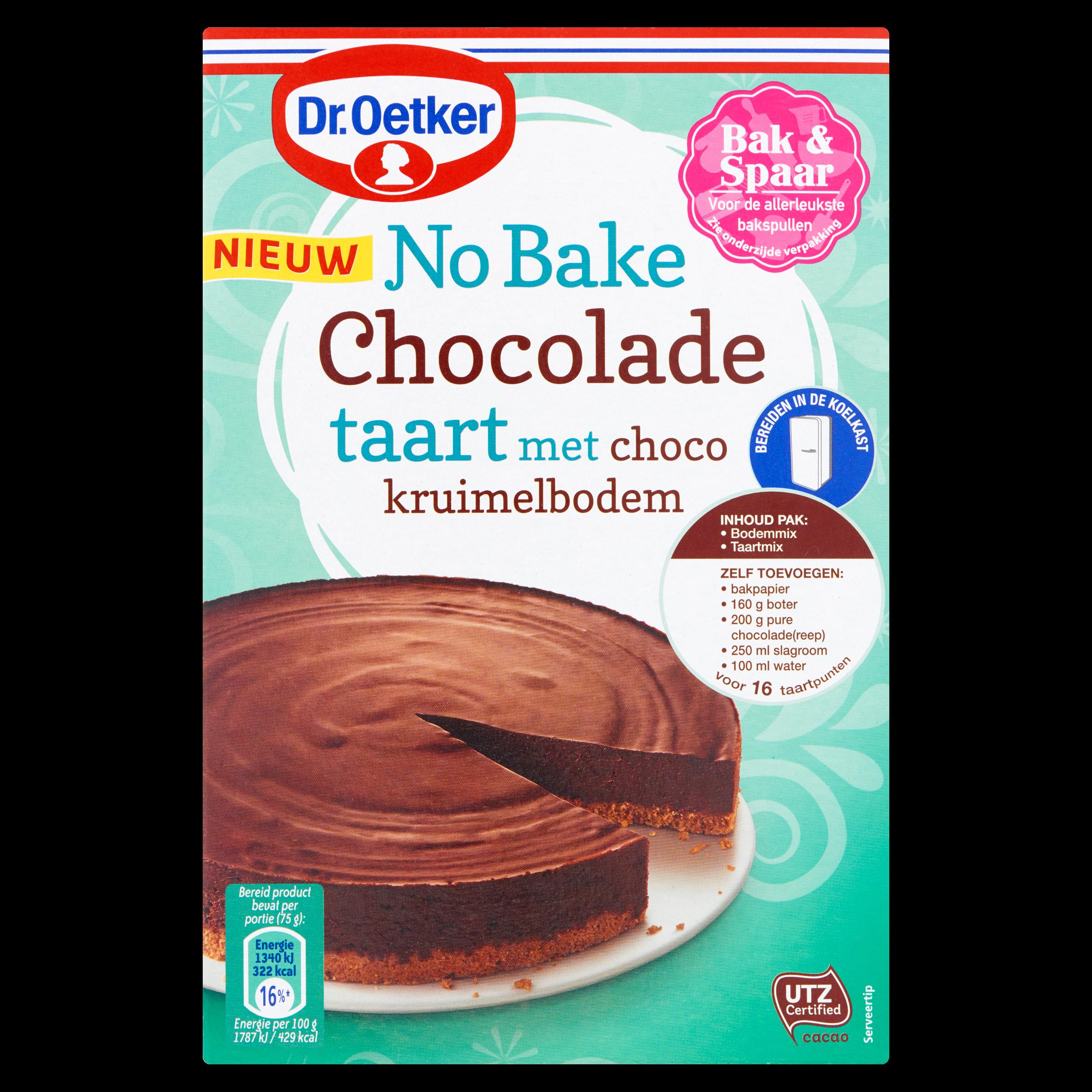 Dr. Oetker No Bake Chocolade Taart met Choco Kruimelbodem 450 g