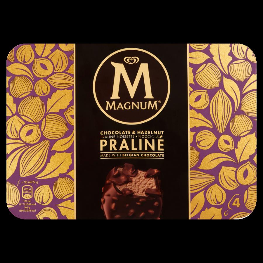 Magnum Hazelnut praline