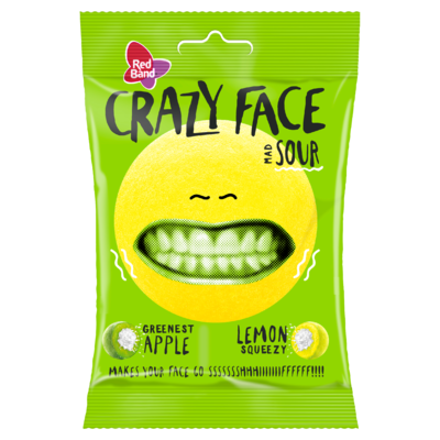 Red Band Crazy Face Sour 80 g