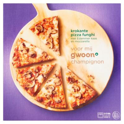 Huismerk Krokante pizza funghi