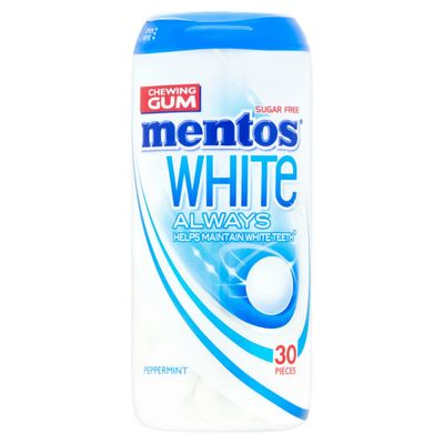 Mentos Gum White Always Peppermint 30p