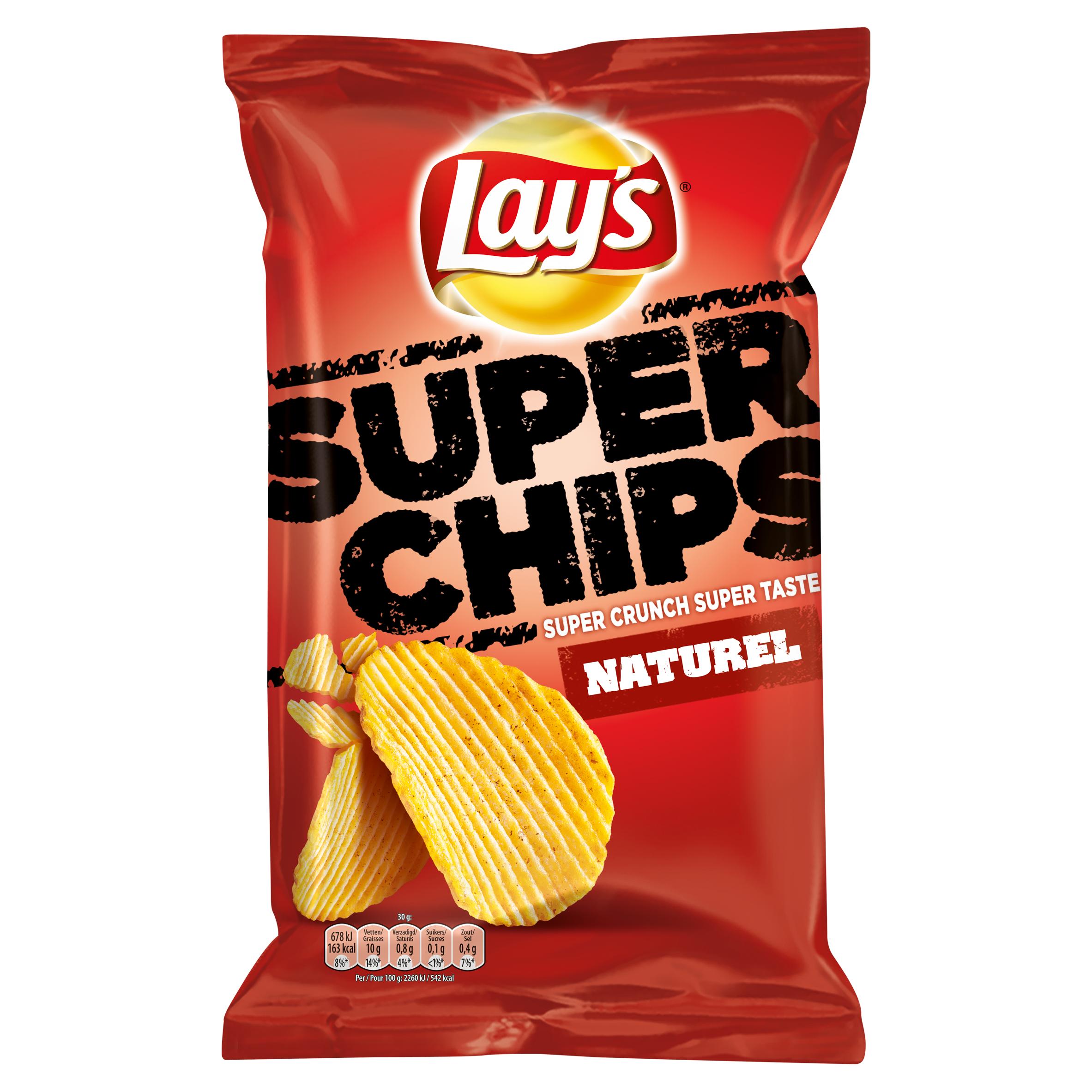 Lay's Superchips Aardappelchips Naturel 215g