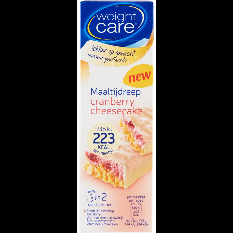 Weight Care Maaltijdreep cranberry cheesecake