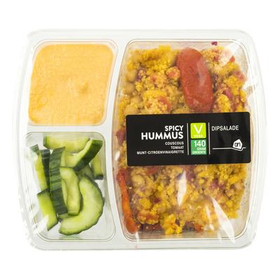 Huismerk Lunchsalade spicy hoemoes