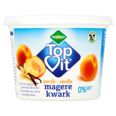 Huismerk Kwark perzik-vanille 0.1% vet